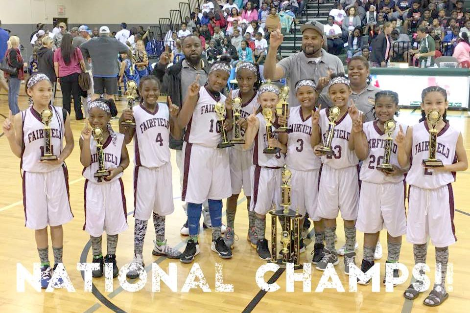 Fairfield Girls Little Dribblers Take National Champ Titles