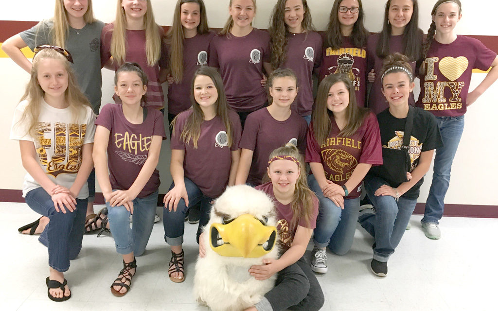 Fairfield Junior High Introduces New Cheerleaders