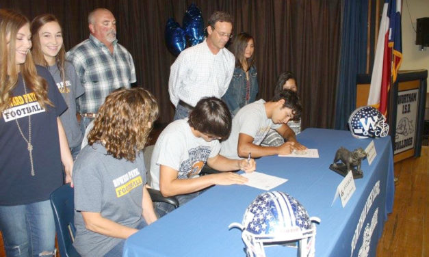 Wortham Athletes Sign Letters of Intent to Play College Football