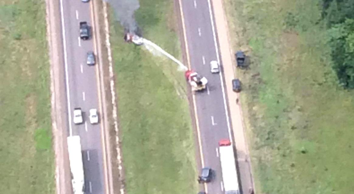 Fiery Crash on the Interstate Near Dew, Texas
