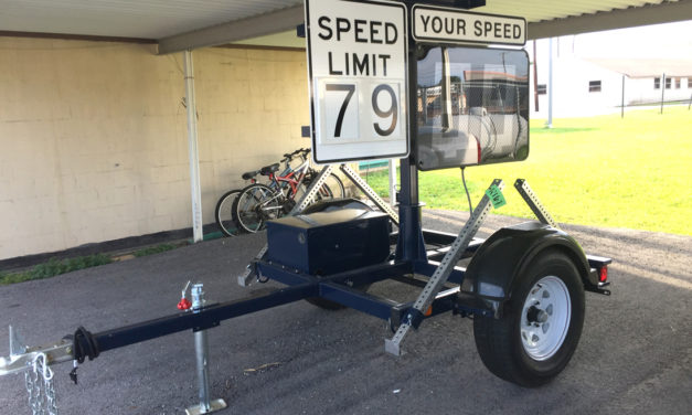 Watch Your Speed:  One of Two New Signs Arrive in Fairfield