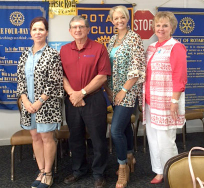 Chamber Representatives Visit with Fairfield Rotary Club Members