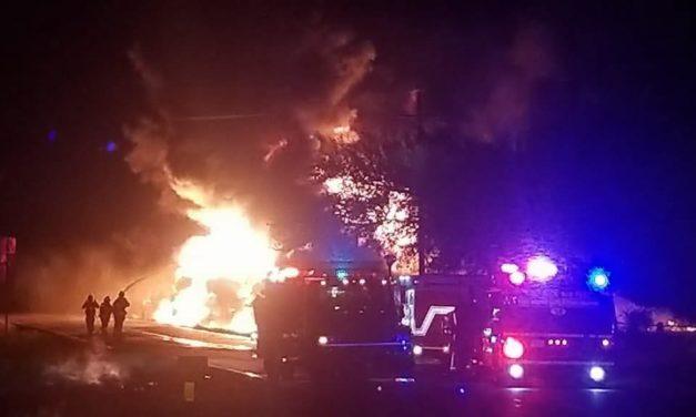 Tanker Truck Explosion on FM 488