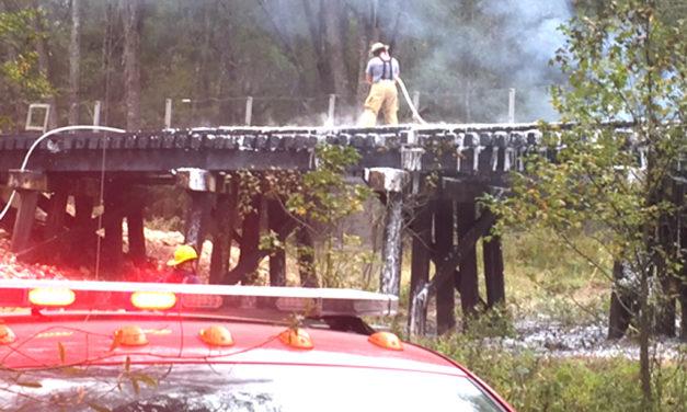 Train Trestle Catches Fire on Halloween Near Oakwood