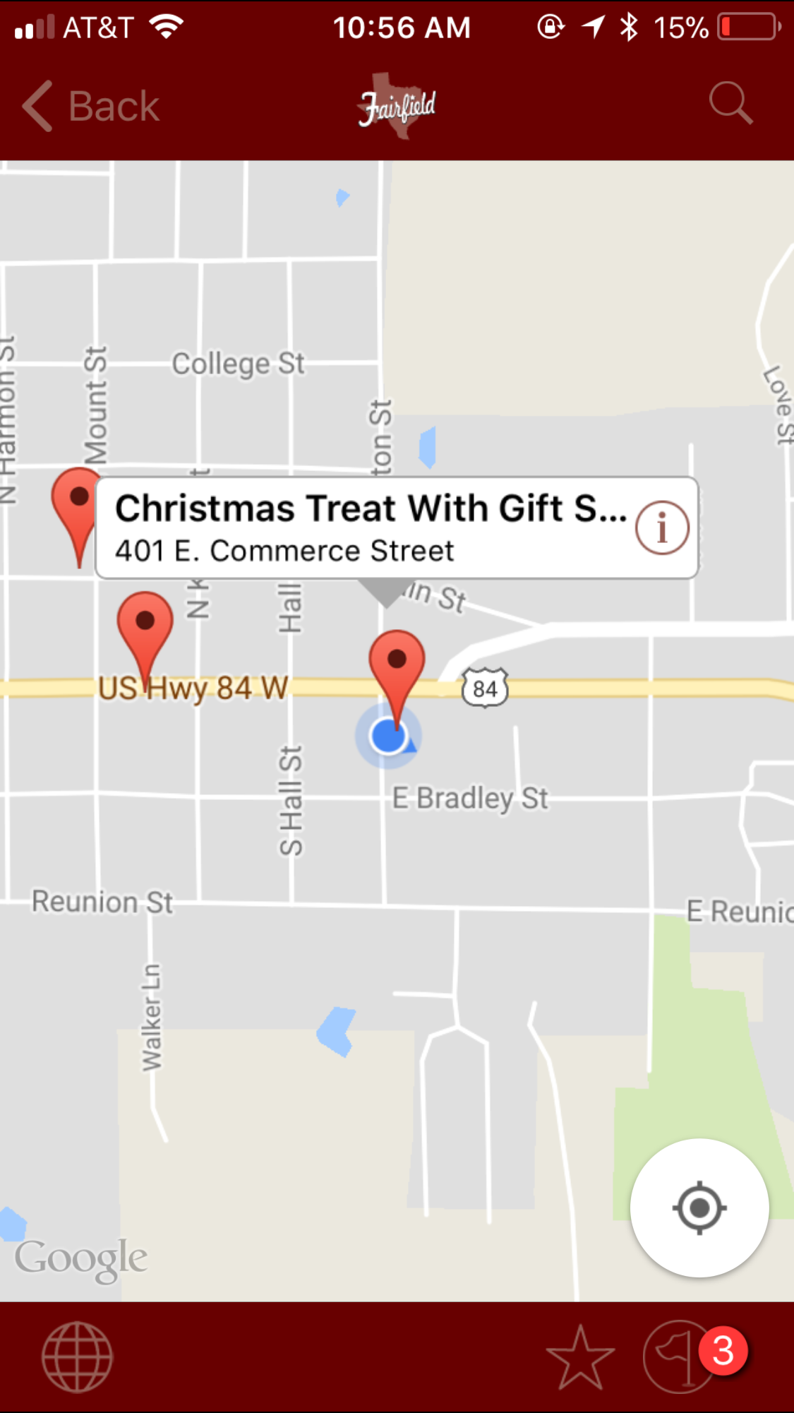 find gift shopping deals with go fairfield mobile app this week