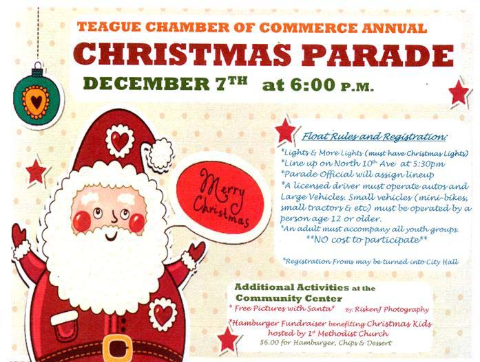 Parade of Lights This Thursday on Main Street in Teague