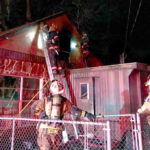 Firefighters Battle Blaze in New Year's Eve House Fire